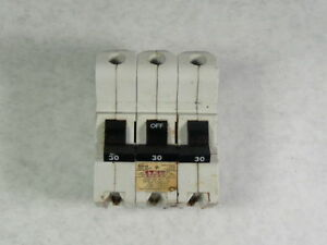 Federal Pioneer Na3p30 Circuit Breaker 30a 3 pole White Casing Used