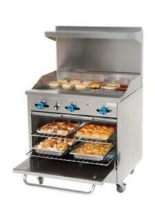 Comstock castle 36 Gas Range 18 Griddle 18 Charbroiler New F330 18 1 5rb