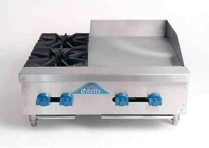 Comstock castle 30 2 burner Gas Range 18 Griddle New Model Fhp30 18