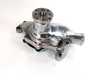 Sb Chevy Sbc 283 327 350 High Volume Aluminum Water Pump Short Style Polished