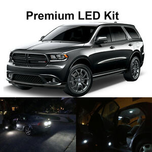 18 X White Led Interior Bulbs Fog Reverse Lights For 2014 2015 2016 2017 Durango