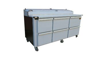 Cooltech 72 Pizza Prep Table With Six Drawers