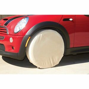Heavy Duty Canvas Storm proof Tire Wheel Covers Protection 24 Diameter 9 Wide