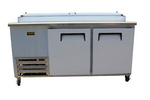 New Cooltech 2 Door Refrigerated Pizza Prep Table 67