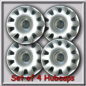 Set 4 2003 2011 15 Vw Volkswagen Jetta Replacement Hubcaps Silver Wheel Covers