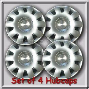 Set Of 4 2001 15 Vw Volkswagen Golf Replacement Hubcaps Silver Wheel Covers