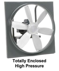 24 Enclosed Exhaust Fan 7 425 Cfm 230 460 Volts 3 Phase 1 Hp 6 Blades