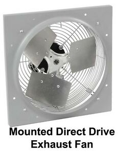 10 Exhaust Fan 680 Cfm 120 V 1 Phase 1 12 Hp 3 Speed Direct Drive