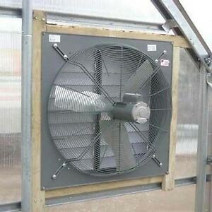 30 Exhaust Fan With Louver Shutter 8 000 Cfm 115 230v 1 2 Hp 1 Phase