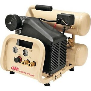 Double Stacked Air Compressor 2 Hp 4 Gallon Capacity Commercial Duty