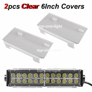 2x 6 Inch Snap On Black Cover Lens For Offroad Led Work Light Bar 50 52 54