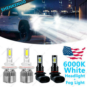 For 2004 2014 Ford F 150 6000k Led Headlight Hi Lo Fog Light Bulbs Combo 4x Wg