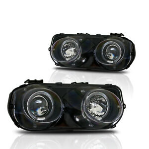 94 97 Acura Integra Dc2 Ls Gs R Jdm Dual Halo Projectors Black Head Lights Pair