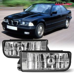 For 92 98 Bmw 3 Series E36 M3 Pair Oe Factory Fit Fog Light Bumper Clear Lens