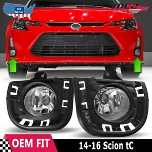 For 14 15 Scion Tc Winjet Oe Direct Factory Fit Fog Light Bumper Kit Clear Lens