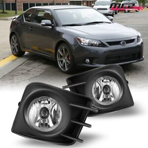 For 11 13 Scion Tc Winjet Oe Direct Factory Fit Fog Light Bumper Kit Clear Lens