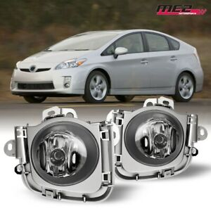 For 2010 2011 Toyota Prius Pair Oe Factory Fit Fog Light Bumper Kit Clear Lens