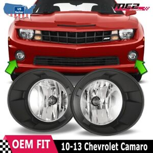 For 2010 2013 Chevy Camaro Oe Style Fit Fog Light Bumper Kit Clear Lens