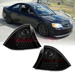 Winjet Oe Factory Fit For 2001 2003 Honda Civic 2dr Led Brake Tail Lights Tint