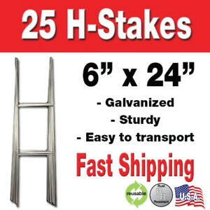 25 Yard Sign H stakes For Lawn Signs For Graduations Political