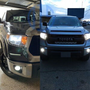 For 2014 2019 2020 Toyota Tundra White Led H4 Headlight H16 Fog Light Bulbs