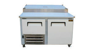 Cooltech 1 1 2 Door Refrigerated Pizza Prep Table S s Top 48