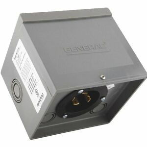 Generac 30 amp 125 250 volt Raintight Resin Generator Power Inlet Box