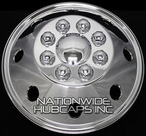 1 16 Chrome Rv Motorhome Dual Wheel Simulators Rim Hub Cap Covers Van Truck