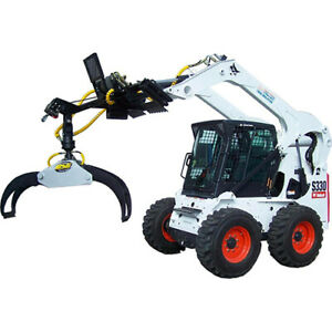 Bsg Rotating Log Grapple Attachment Move Logs With Your Skid Steer