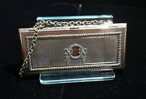 German Sterling Silver Guilloche Large Purse Box By Fritz Bemberg Circa 1920