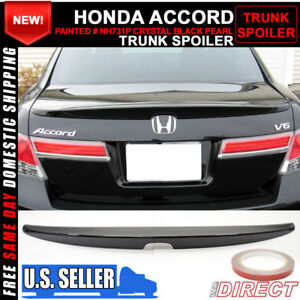 08 12 Honda Accord Oe Style Trunk Spoiler Painted Crystal Black Pearl nh731p