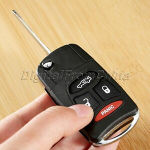 Flip Remote Key Case Shell Fit For Dodge Chrysler 300 Aspen 3 1 Panic Buttons