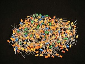 250 Pcs Dipped Tantalum Capacitor Grab Bag Assorted Values And Voltage