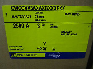 New Square D Masterpact 2500a Breaker Cradle Cwcqvv3axaxbxxxfxx