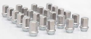Set 24 Gmc Acadia Chevy Traverse Buick Enclave Factory Polished 14x1 5 Lug Nuts