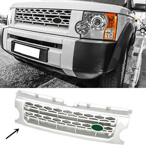 For Land Rover Discovery Lr3 2005 2009 Silver Front Grille Replace Trim