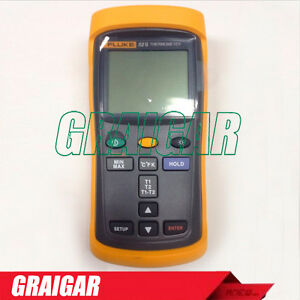 Fluke 52 Ii Dual Input Digital Thermometer F52 2 Handheld Tempeture Guage