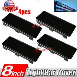 4pcs 8 Black Lens Cover Snap Off Road Straight Curved Led Light Bar 50 52 54