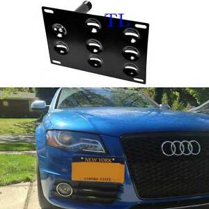 Front Bumper Tow Hook License Plate Mount Bracket For Audi A4 S4 A5 S5 A7 S7