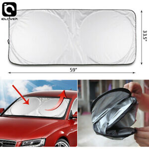 Folding Car Window Windshield Jumbo Sun Shade Auto Visor Block Cover Protector