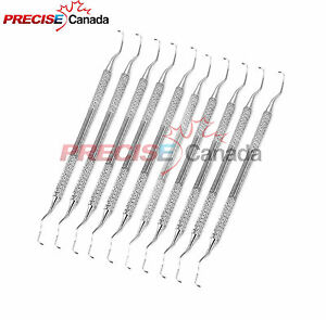 Set Of 10 Gracey Curette G11 12 De Periodontal Dental Instruments