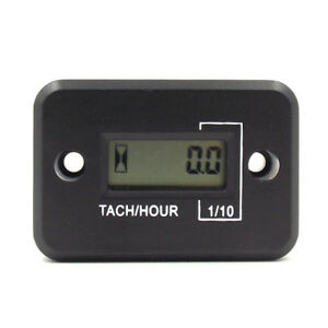 Inductive Digital Hour Meter Tachometer For Motorcycle Atv Marine Ski Gas Engine
