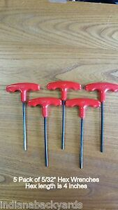 5 32 T Handle Hex Allen Key Wrench 5 Pack Of Wrenches