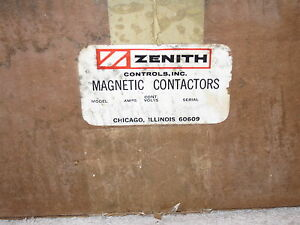 Zenith Controls Contactor Mh 33 30 Amp 3 Phase 120v Coil In Enclosure