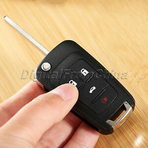 Replacement 4 Button Flip Key Shell Remote Key Case Fob Fit For Chevrolet