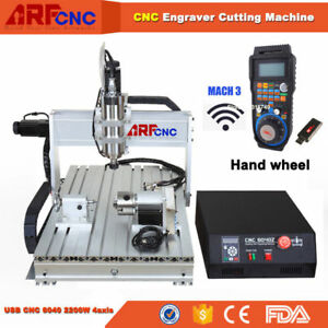Usb 2 2kw Spindle Cnc Router 6040 4 axis Router Engraver Milling Machine Eu Ship