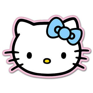 Hello Kitty Pink Vynil Car Sticker Decal Select Size