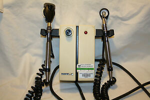 1 One Welch Allyn 74910 Wall Transformer W Otoscope Heads