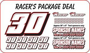 Race Car Numbers Package Dirt Late Model Modified Street Stock Imca