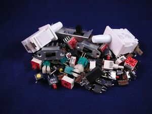 100 Pcs Electrical Switch Grab Bag Assorted Styles And Values